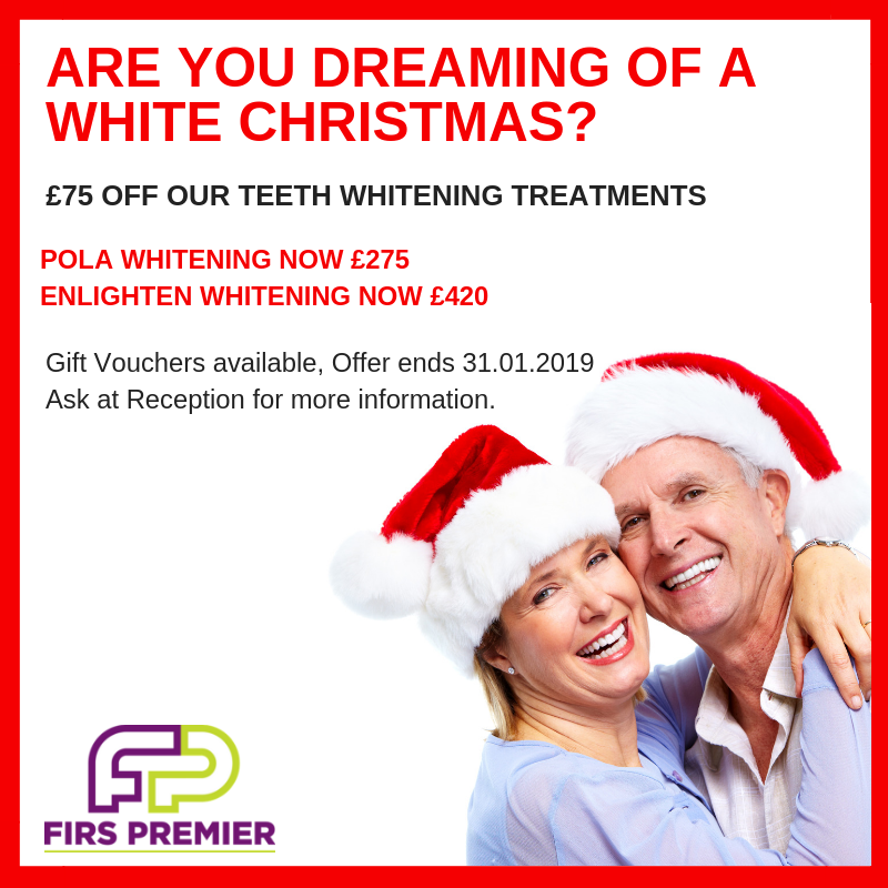 £75 off Teeth Whitening Treatments this Christmas
